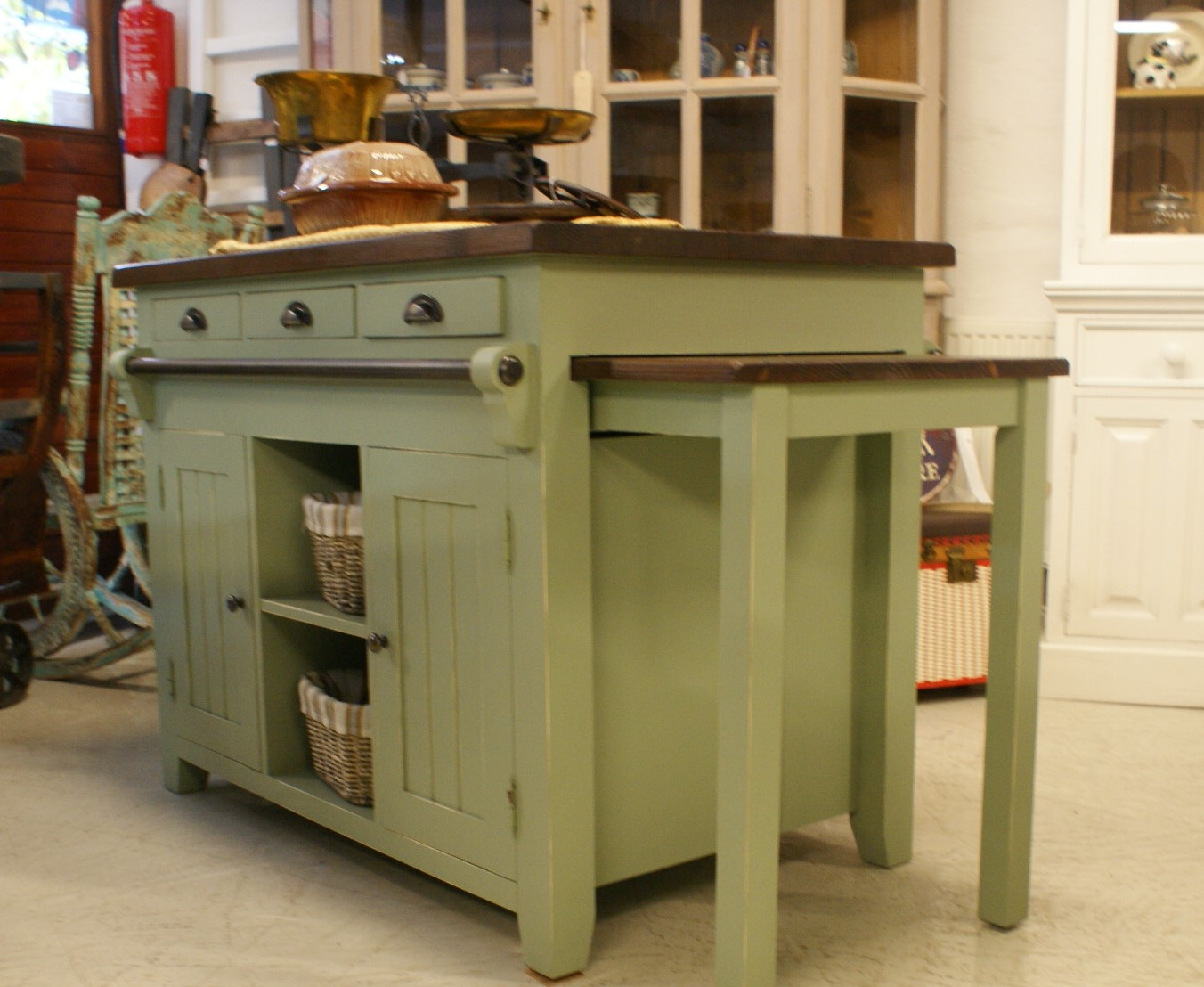 Light Green Kitchen Island Luc 39 S
