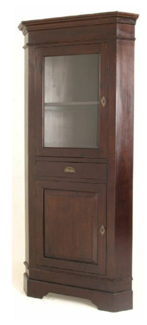 Teak Corner Cabinet with Glass