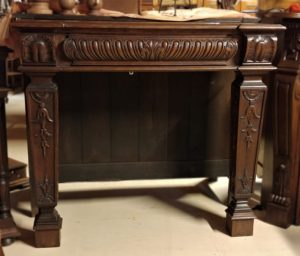 Louis XVI Oak Fireplace Frame
