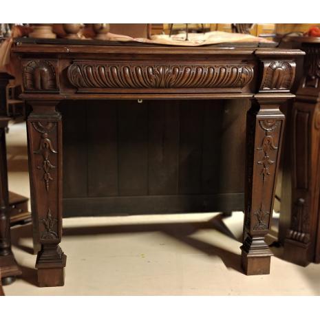 Louis XVI Oak Fireplace Frame
