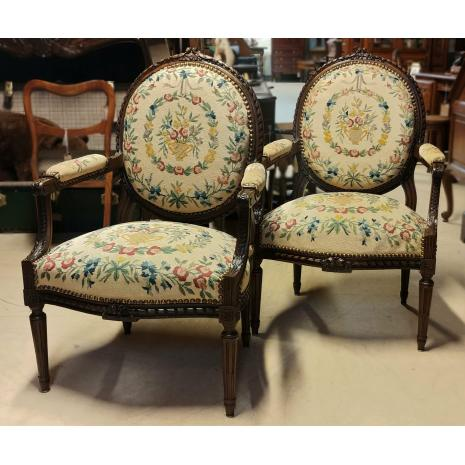 Louis XVI Needlepoint Chairs