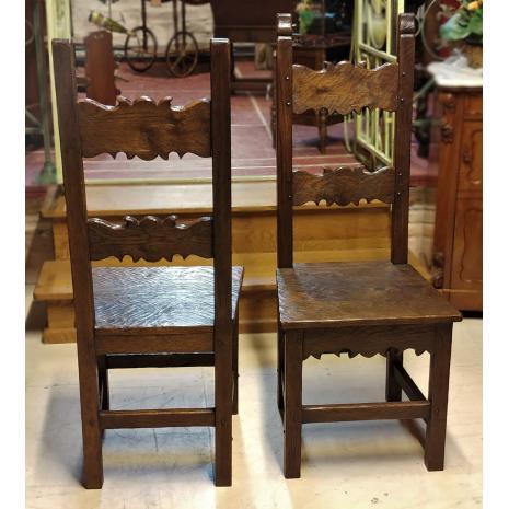 Flemish Renaissance Oak Chairs