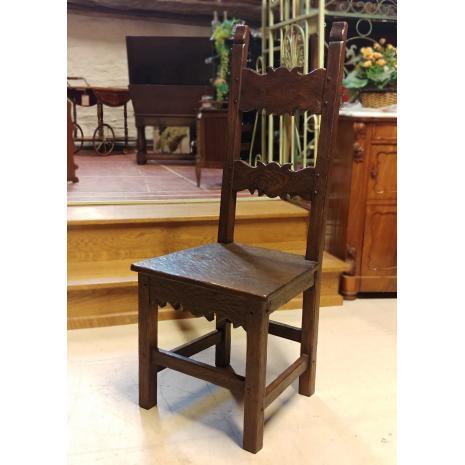 Flemish Renaissance Oak Chair