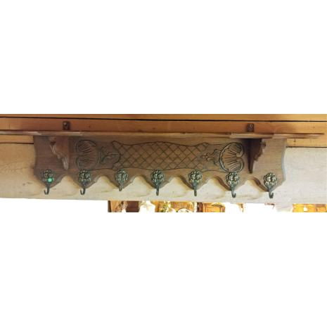 Belgian Oak coat rack