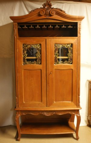 Louis XV Walnut Wine Cabinet