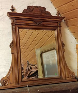Louis XVI Walnut Mirror
