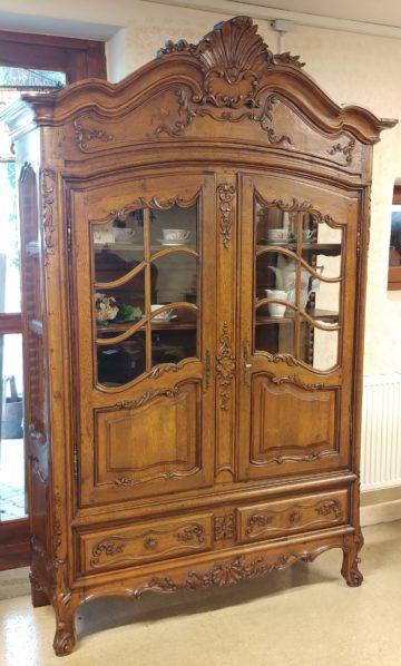 Louis XV Oak China Cabinet