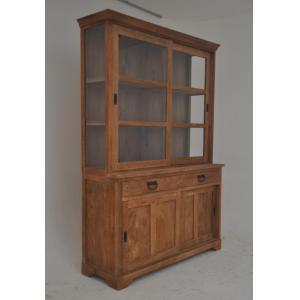 Light Teak Shop Cabinet