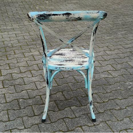 Sai White Wash Metal Chair