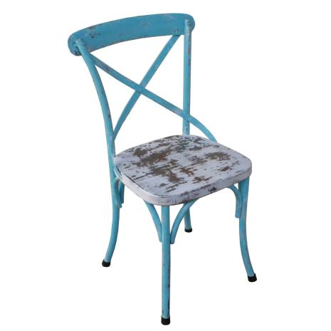 Sai Blue Metal Chair